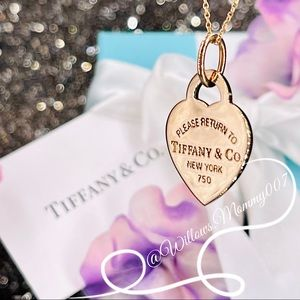 T&Co Return to Tiffany Rose Gold Heart Tag Pendant